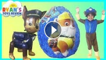 Paw Patrol GIANT EGG SURPRISE OPENING Nickelodeon Surprise Toys Kids