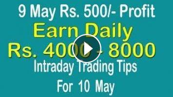 Intraday Trading Tips for 10 May 2019 | intraday trading