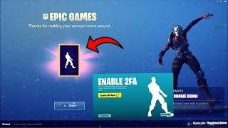 FORTNITE HOW TO GET BOOGIE DOWN EMOTE FREE TWO FACTOR AUTHENTICATION