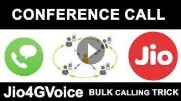 Reliance JIO FREE Conference Calling | How to Merge Multiple
