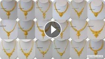 ddeed7810 Latest Light Weight Gold Necklace Designs | Gold Necklace For Women Under  10 Grams